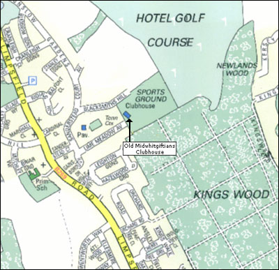 Croydon and District Motor Club Meeting Place on Map